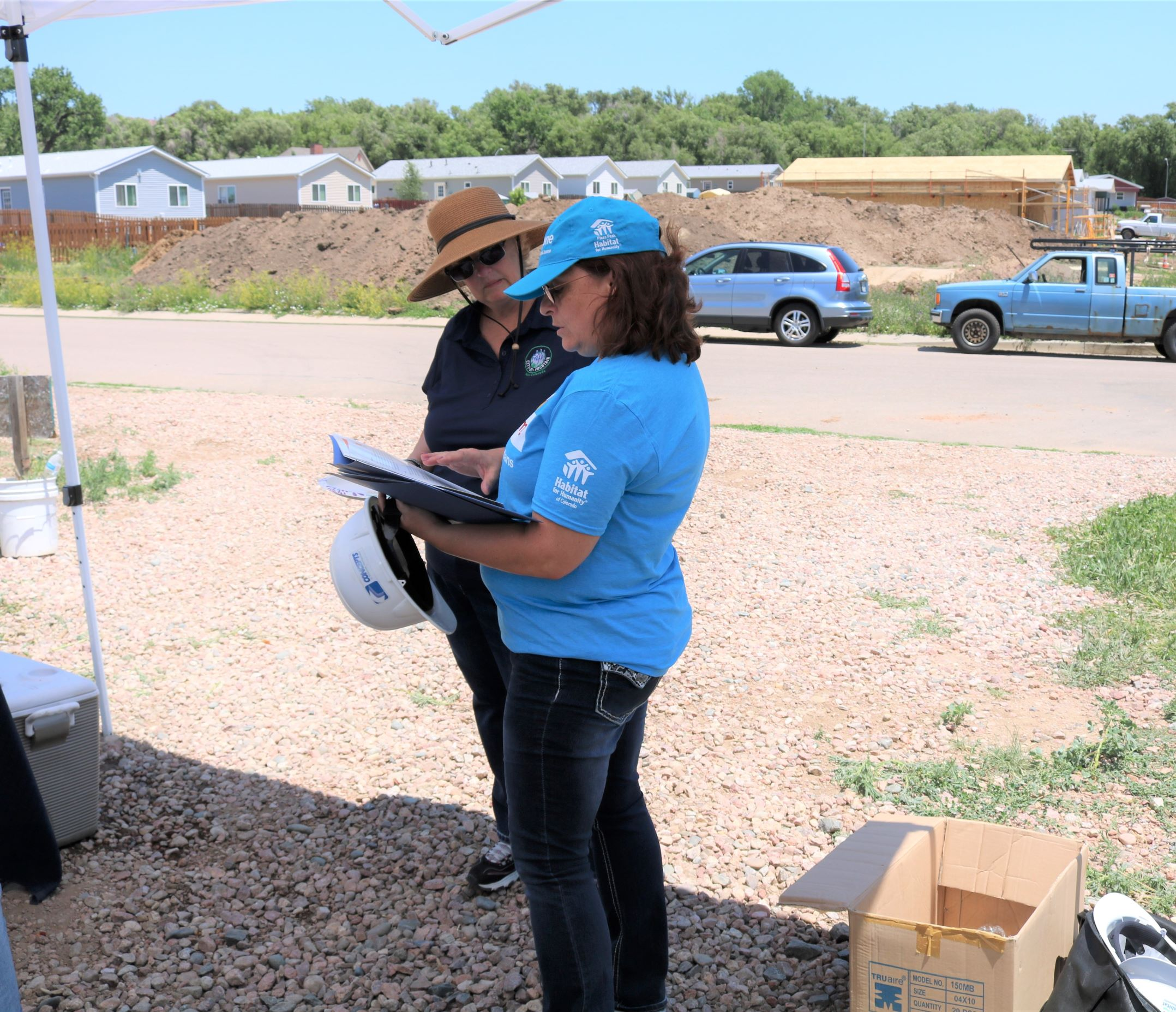 At Our Fountain Build Location: Kris Medina Discusses Cost of Home Campaign with Sharon Thompson, Fountain City Council Member