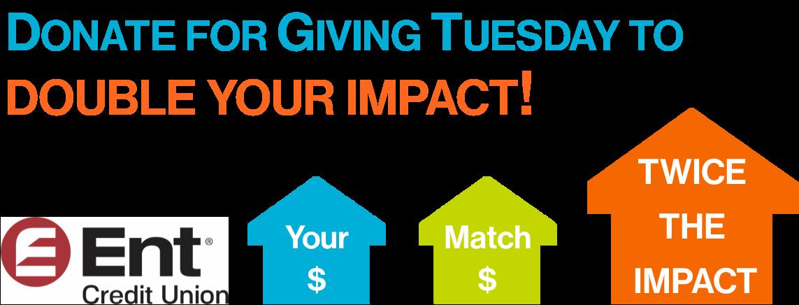 Double Your Impact – Ent Credit Union Match