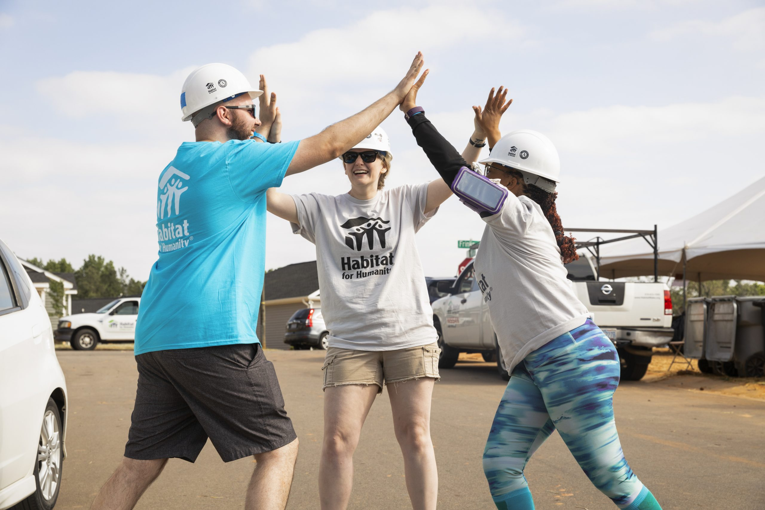 RALEIGH, NORTH CAROLINA (05/22/19) - More than 300 AmeriCorps National and VISTA members and AmeriCorps Alumni from across the United States come together with Wake County Habitat for Humanity in Raleigh, North Carolina, for 2019 Build-A-Thon.
