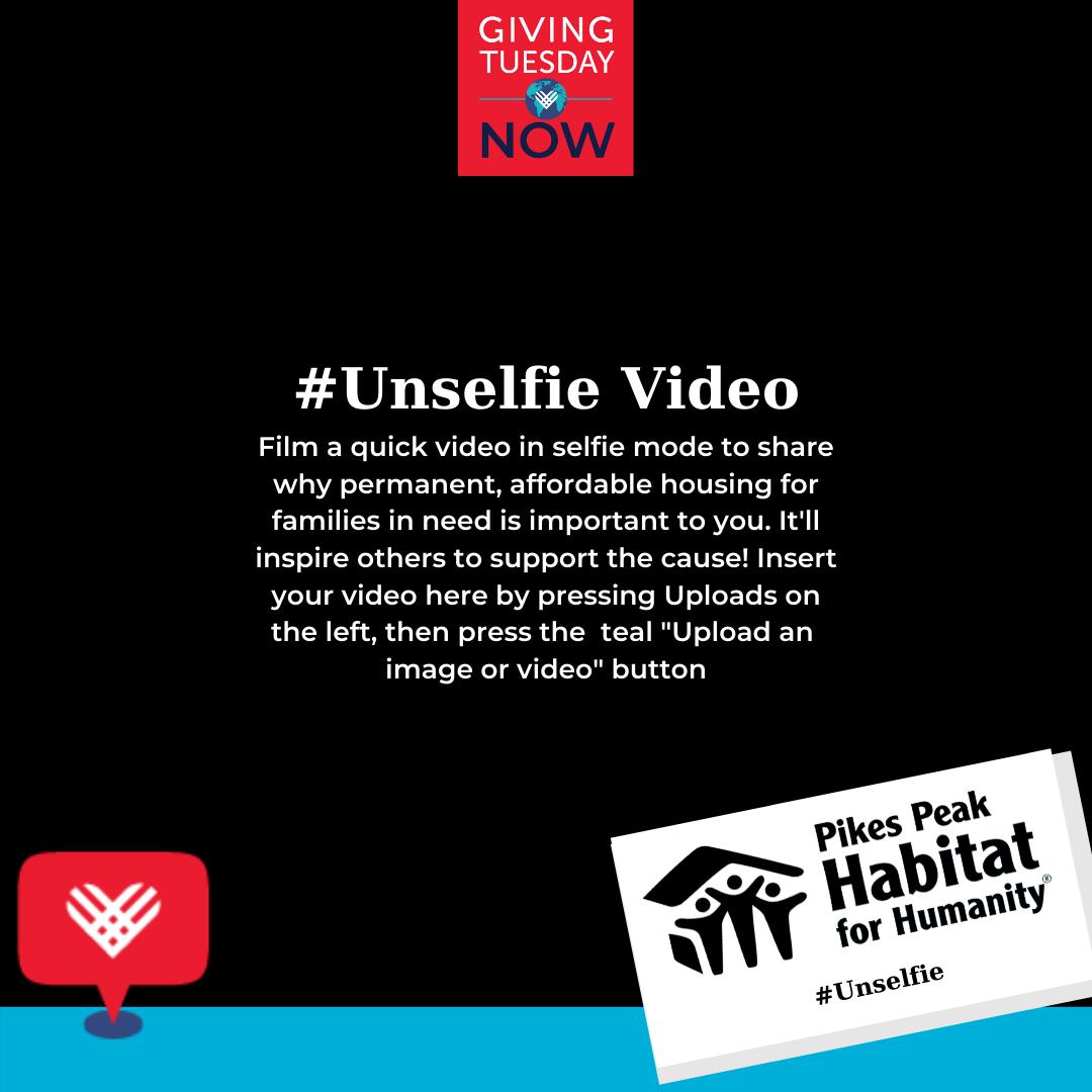 GivingTuesdayNow Unselfie Video Template