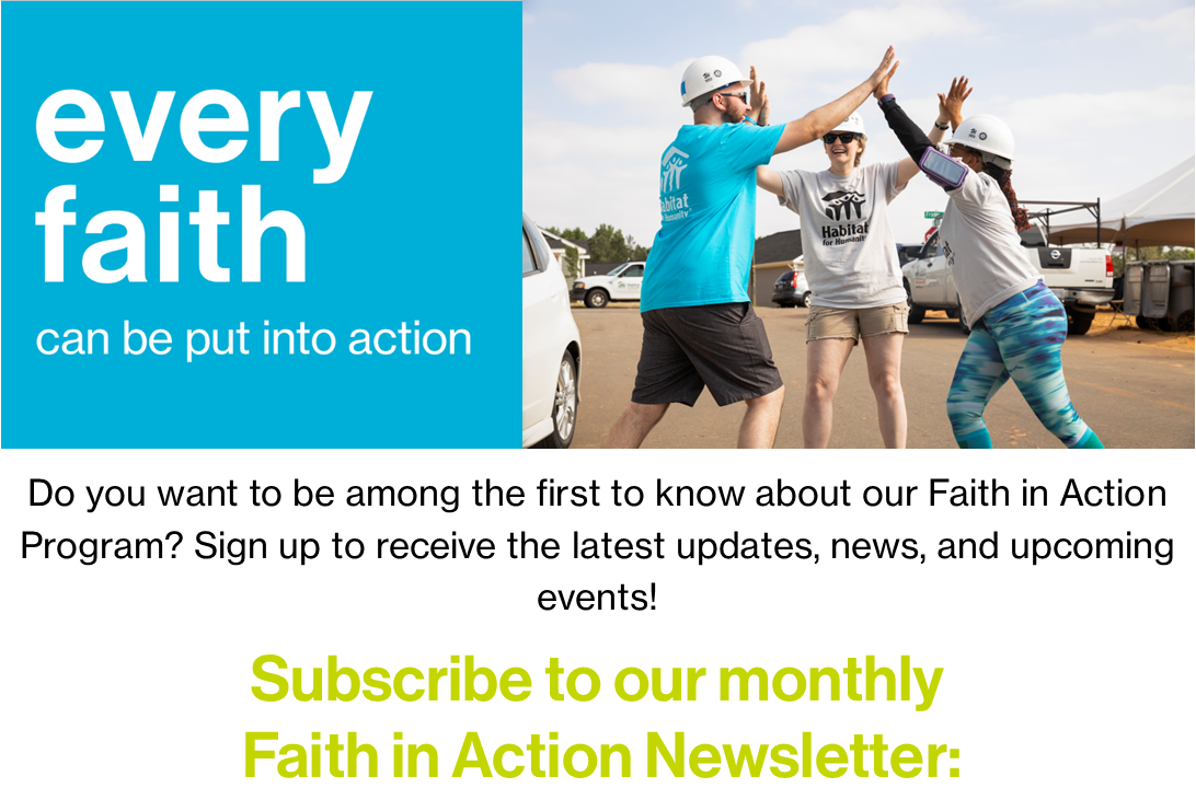 Faith in Action Newsletter Subscribe Page Banner
