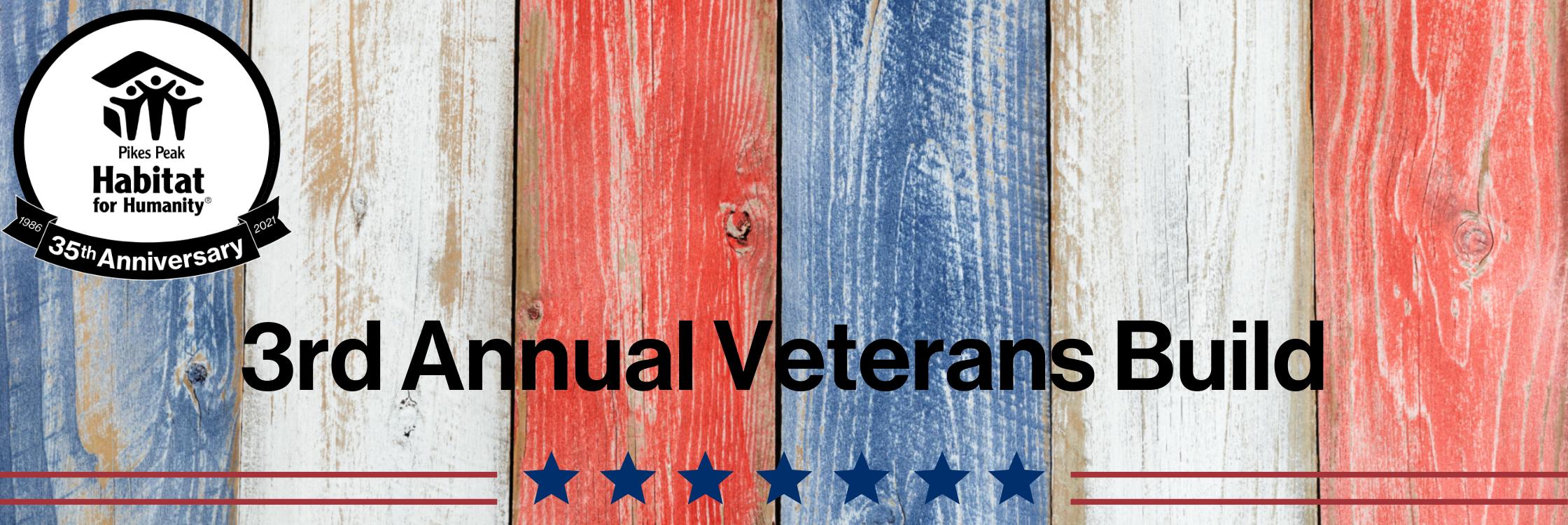 3rd Annual Veterans Build Web Banner
