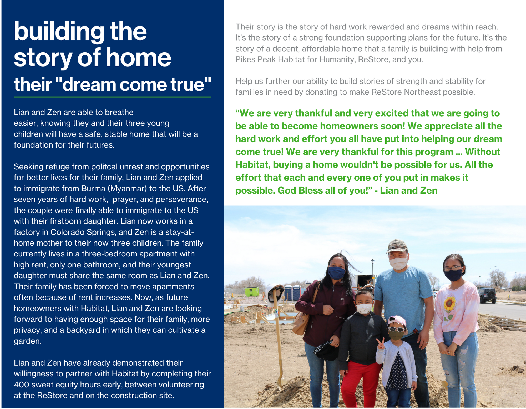 Join Us in Building the Story of Home with ReStore Page 5