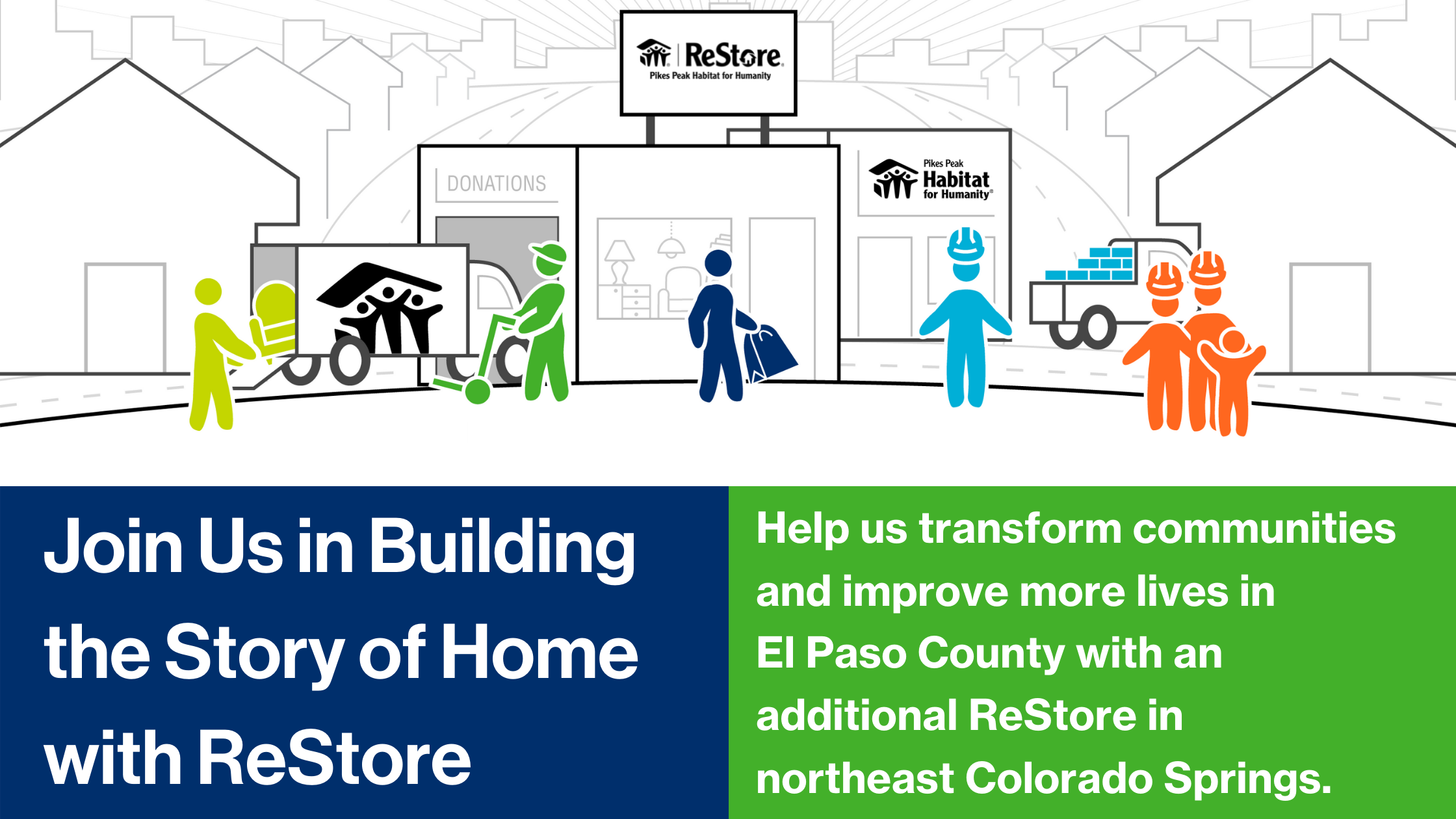 Join Us in Building the Story of Home with ReStore Web Page Header Banner