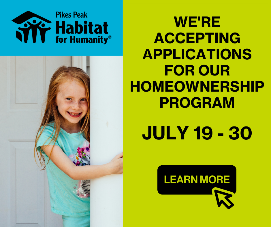 Homeownership Program – We're Accepting Applications Graphic for Website