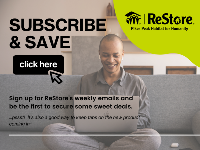 Sign Up for ReStore Emails Web Page Graphic 800×600 px