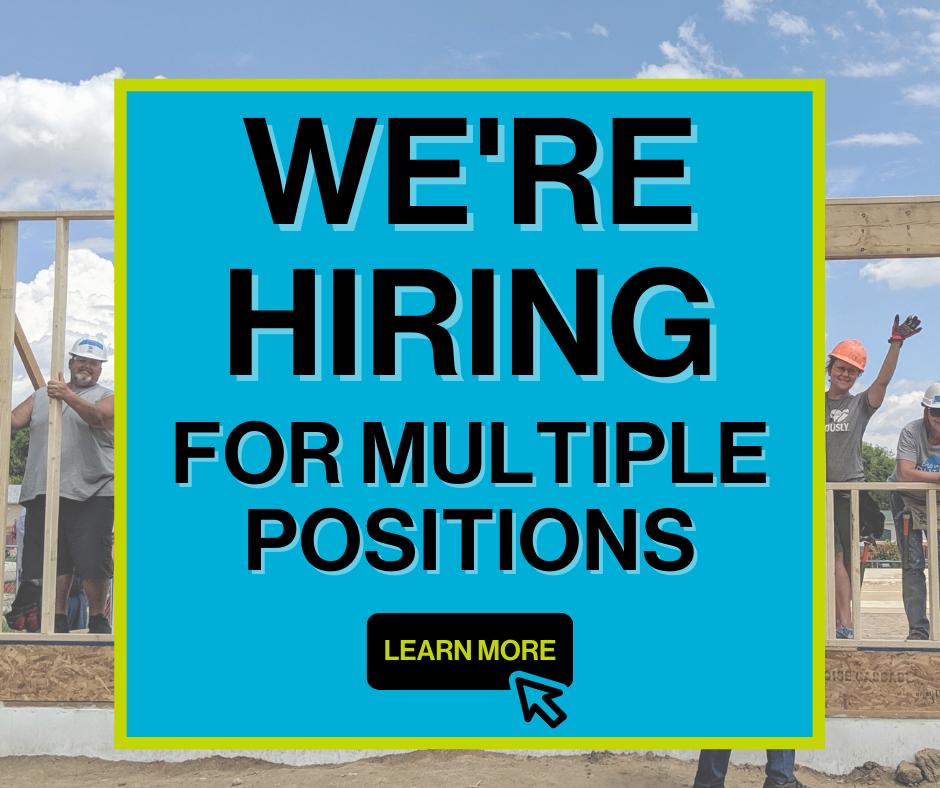 We're Hiring Graphic for Now Happening Web Page