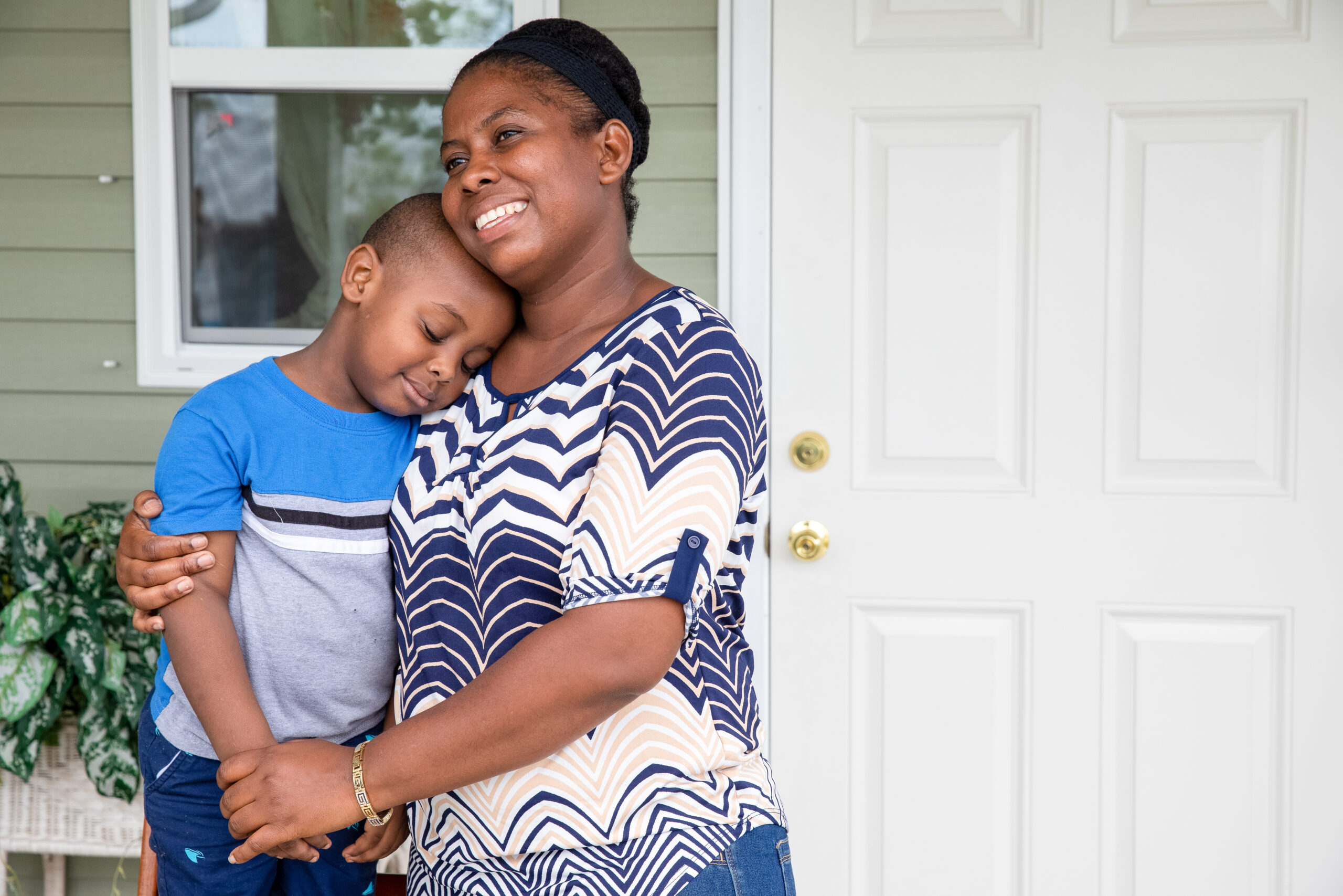 USFL-18-12486-JA.jpg IMMOKALEE, FLORIDA, USA (07/24/18)-Magadala Julien, with her son Zachary (3), was able to work with Habitat for Humanity of Collier County to build her home after the apartment she was renting was severely damaged during Hurricane Irma. © Habitat for Humanity International/Jason Asteros